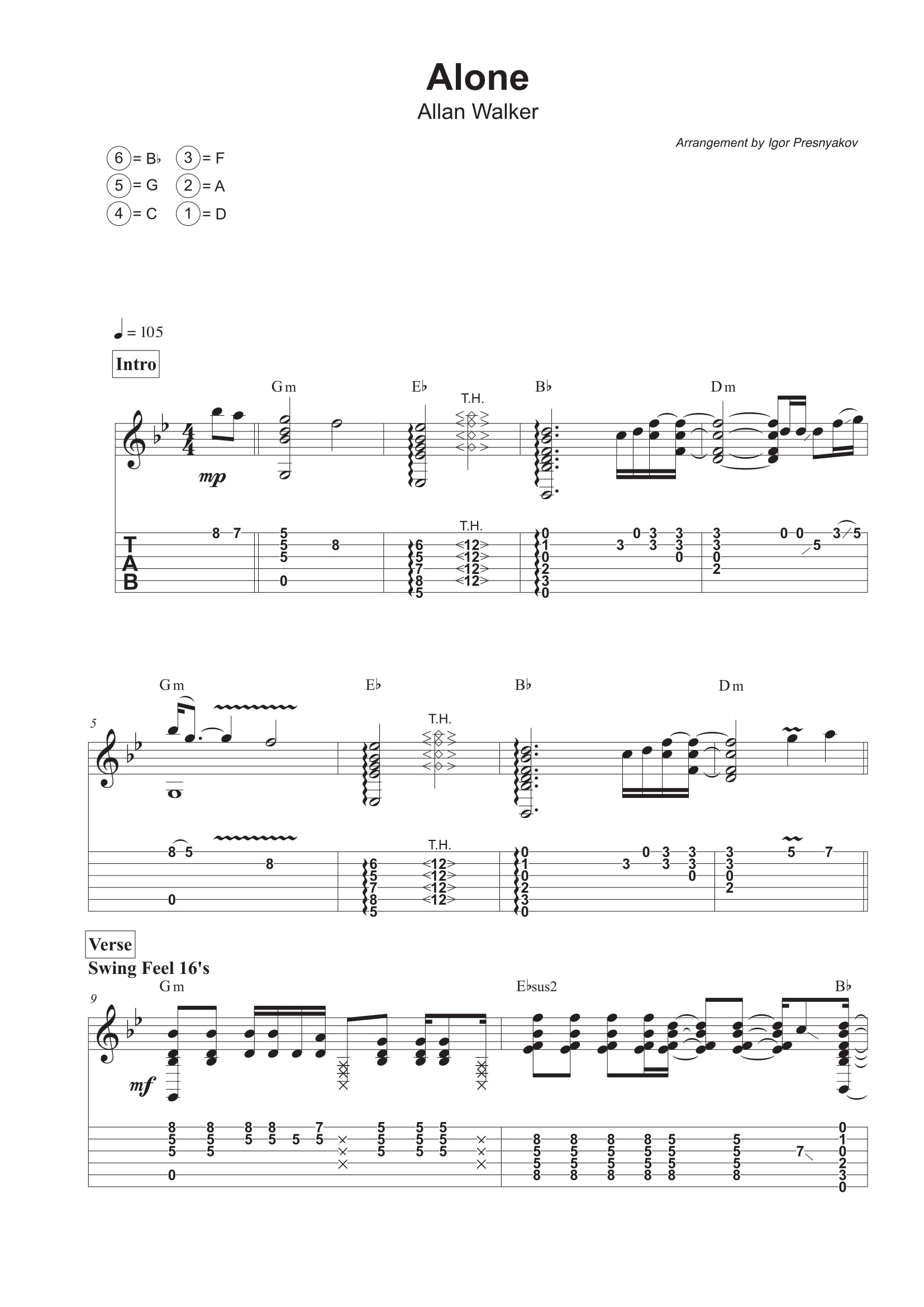 Guitar Tab Transcription Service My Sheet Music