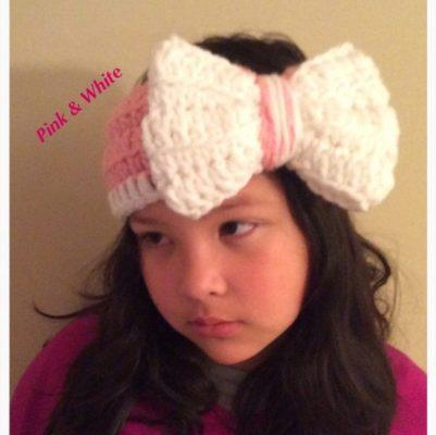 big bow ear warmers