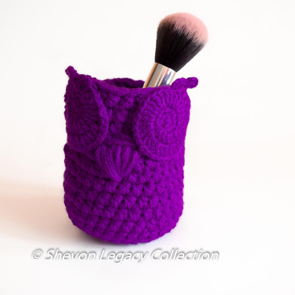 Owl Basket Bin Pen Holder Home Organizer - Crochet Pattern