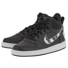 Nike - Nike Court Borough Mid (GS) 839977-008 - ΜΑΥΡΟ