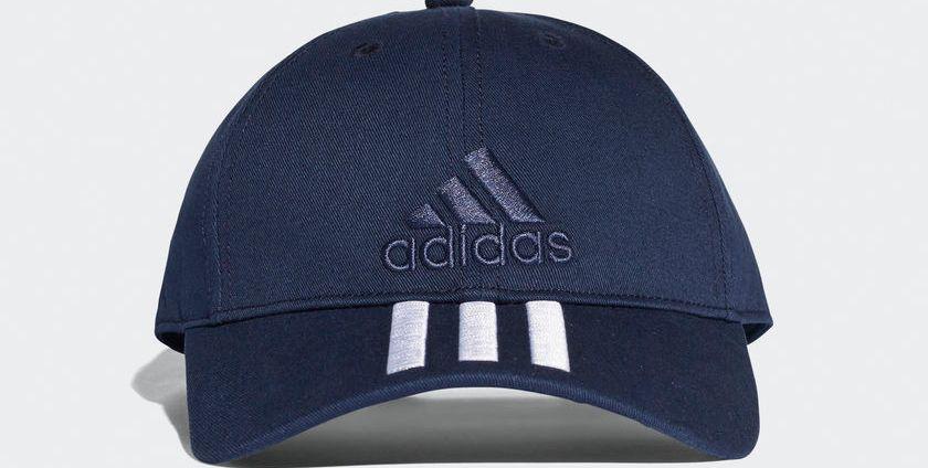 adidas Sport Performance - adidas 6P 3S Cap Cotto BK0808 - ΜΠΛΕ/ΛΕΥΚΟ