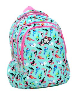 Lyc - Lyc One Parrots Line Backpack LO01328 - σιελ
