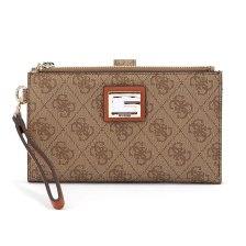 Guess - Guess Valy Slg Double Zip Organizer SWSG7873570-RUS - μπεζ