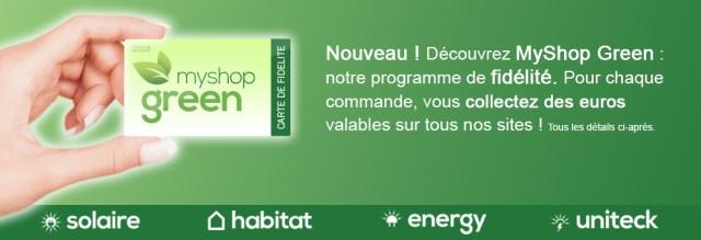 Programme de fidélité MyShop-Green