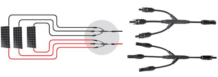 kit connecteurs solaires parallele 3 panneaux