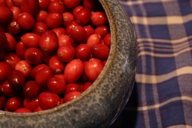 Large quantities of cranberries lead to large batches of relish