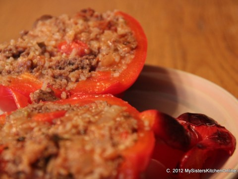 Red Bell Peppers, Stuffed!