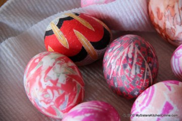 bright silk-dyed Easter Eggs