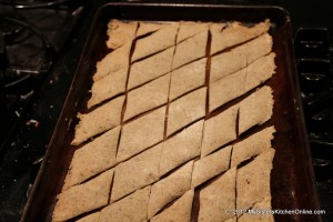 Crispy Gluten-Free Homemade Rice Crackers after baking