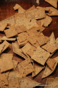 Crispy Gluten-Free Homemade Rice Crackers make a great appetizer