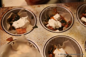 Making grab-and-go miniature lasagnas