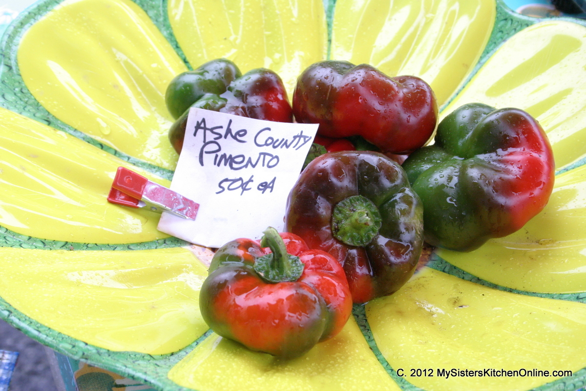 Peppers, posing, at the Farmer's market