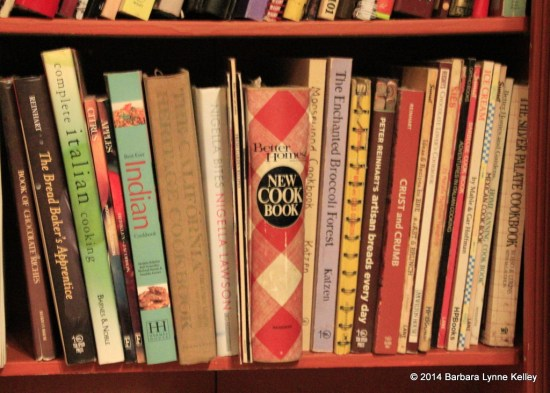 Cookbooks in My Sister's Kitchen