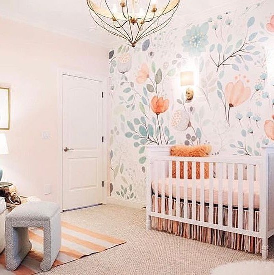 Girl Nursery With Wallpaper The Best Girl Bedroom Ideas