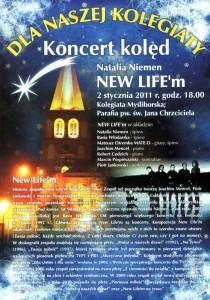 plakat koncertu kolęd dla naszej kolegiaty
