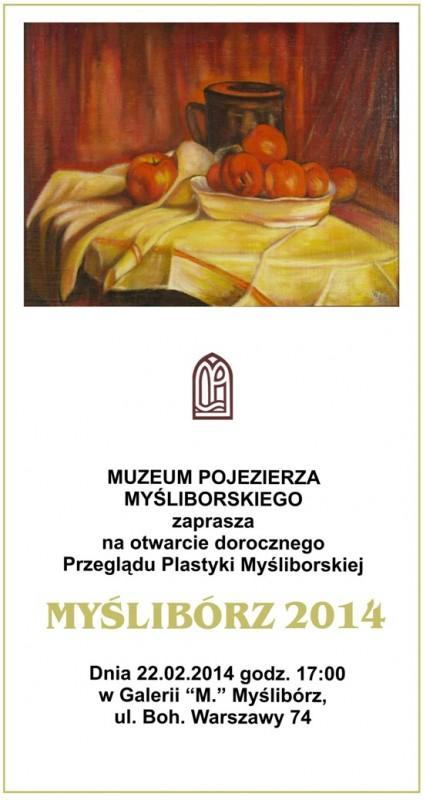 plakat reklamujący Przeglad Plastyki Myśliborskiej