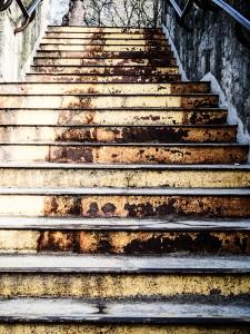 schody z ulicy Kościelnej na Młyńską