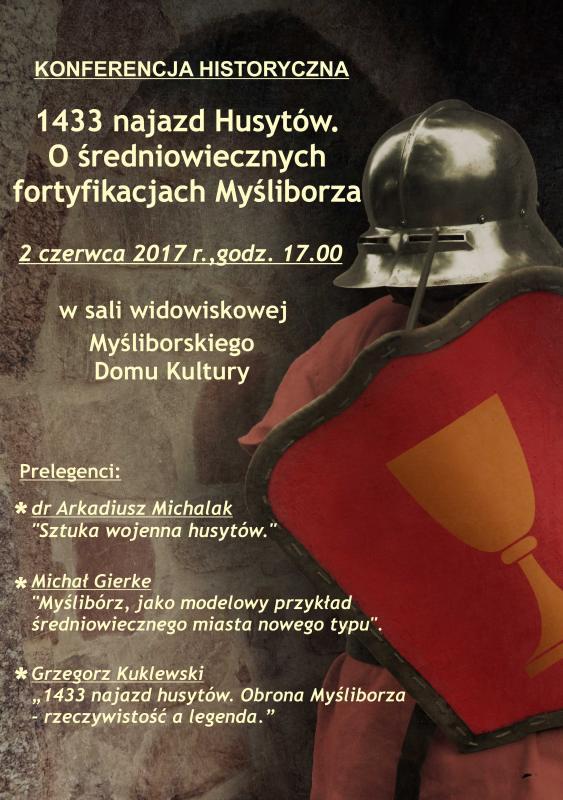 Plakat konferencji historycznej, która odbędzie w ramach II Jarmark Klasztorny