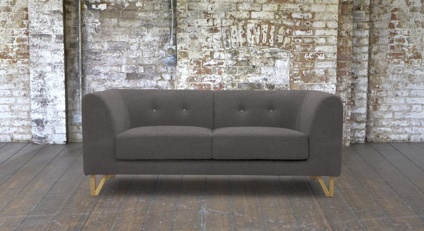 small grey sofa futon beds under 200 canonbury 2 seater mysmallspace