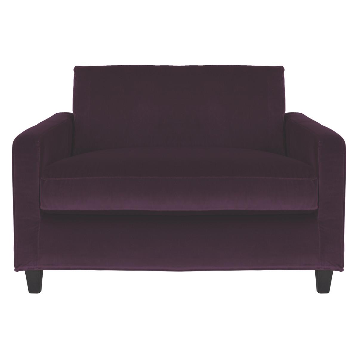 habitat chester sofa leather 70 bed purple velvet compact dark stained