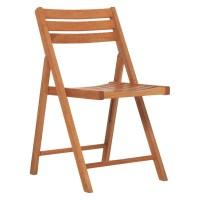 Habitat Zeno Oak Folding Garden Chair - MySmallSpace