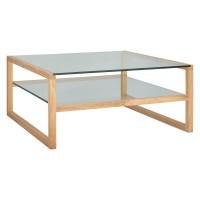 Habitat Herrmann Square Glass Coffee Table - MySmallSpace
