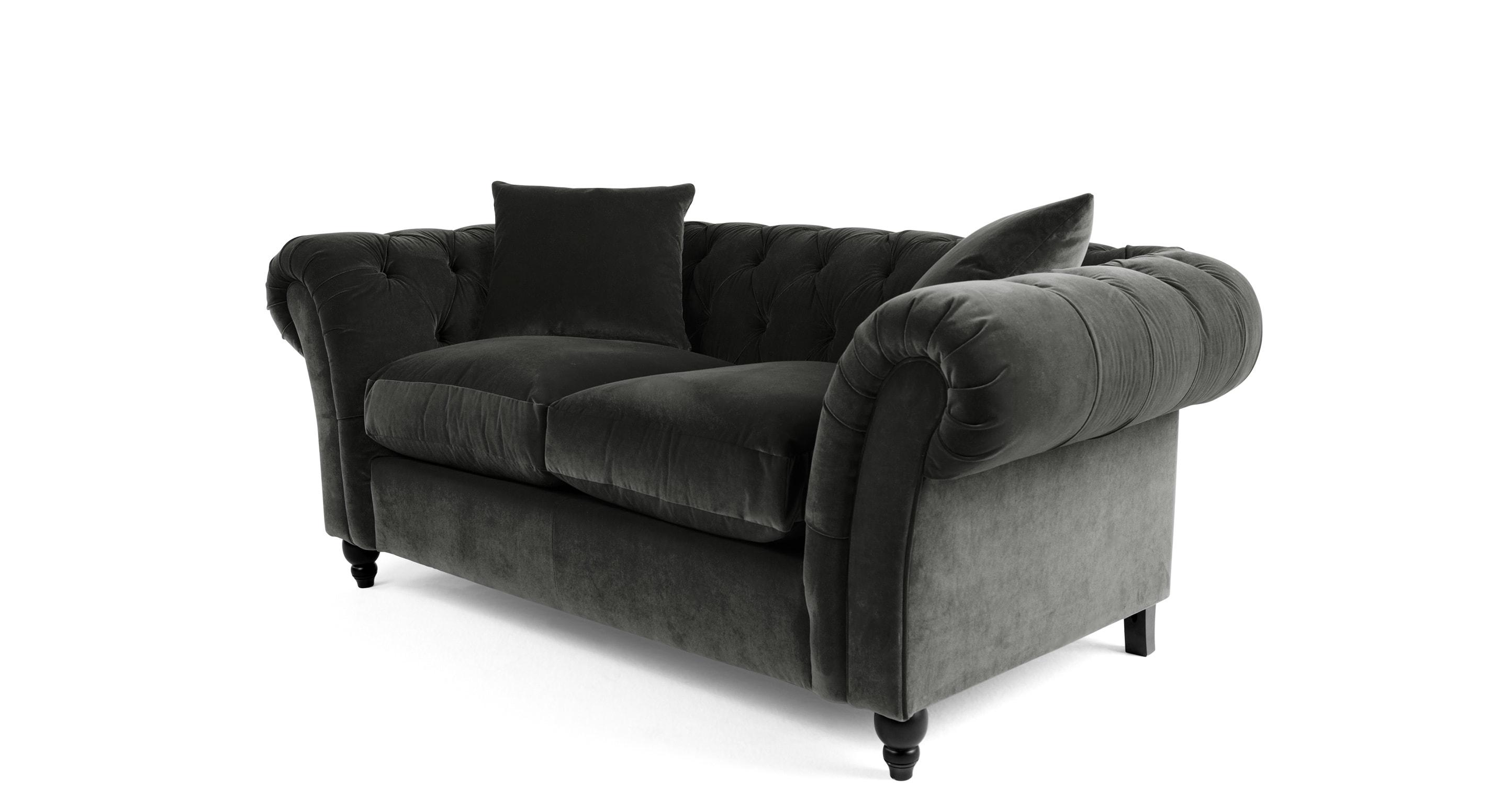 chesterfield sofa bed grey velvet spinning chair bardot 2 seater mink