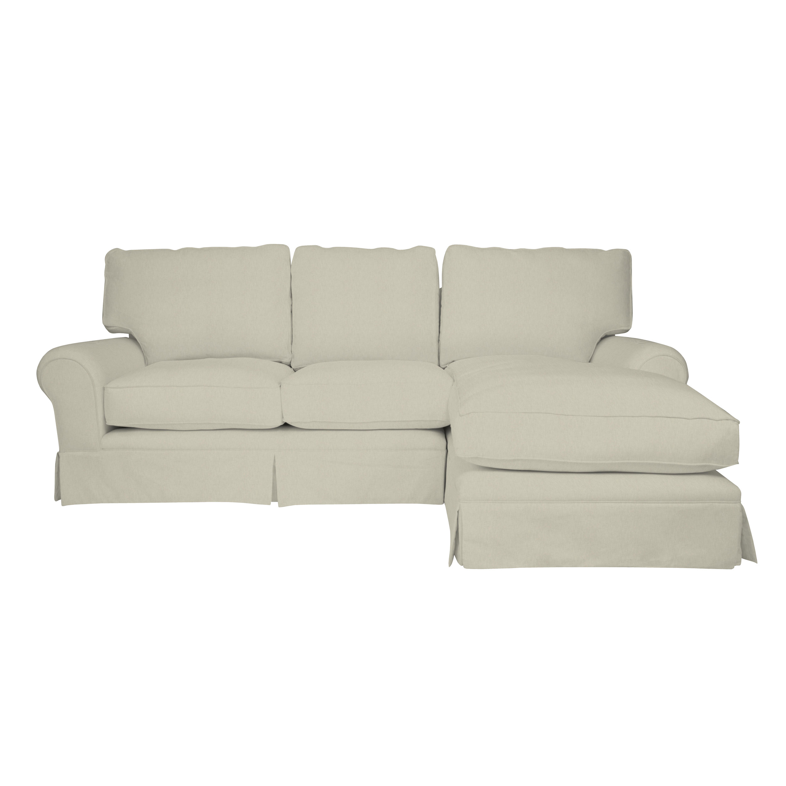 left chaise sofa sectional slipcover bradington truffle review kendal fixed covers end right hand facing