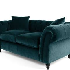 Royal Blue Velvet Sofa Uk Leather Patch For Repair Bardot 2 Seater Chesterfield Ocean