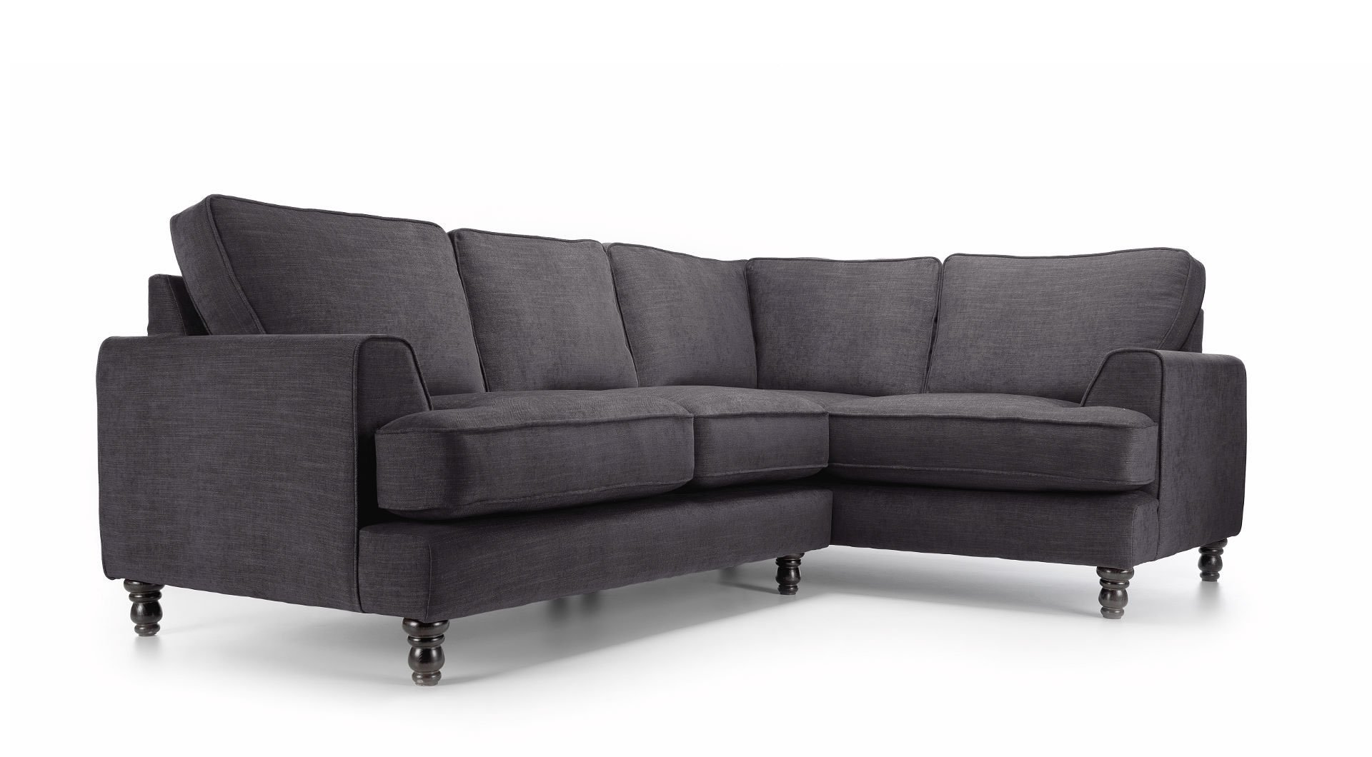 large dark grey corner sofa theater seating sectional bonnie mysmallspace