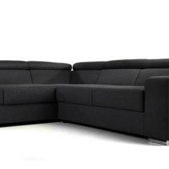 Large Dark Grey Corner Sofa Red Modern Sectional Moscow Mysmallspace