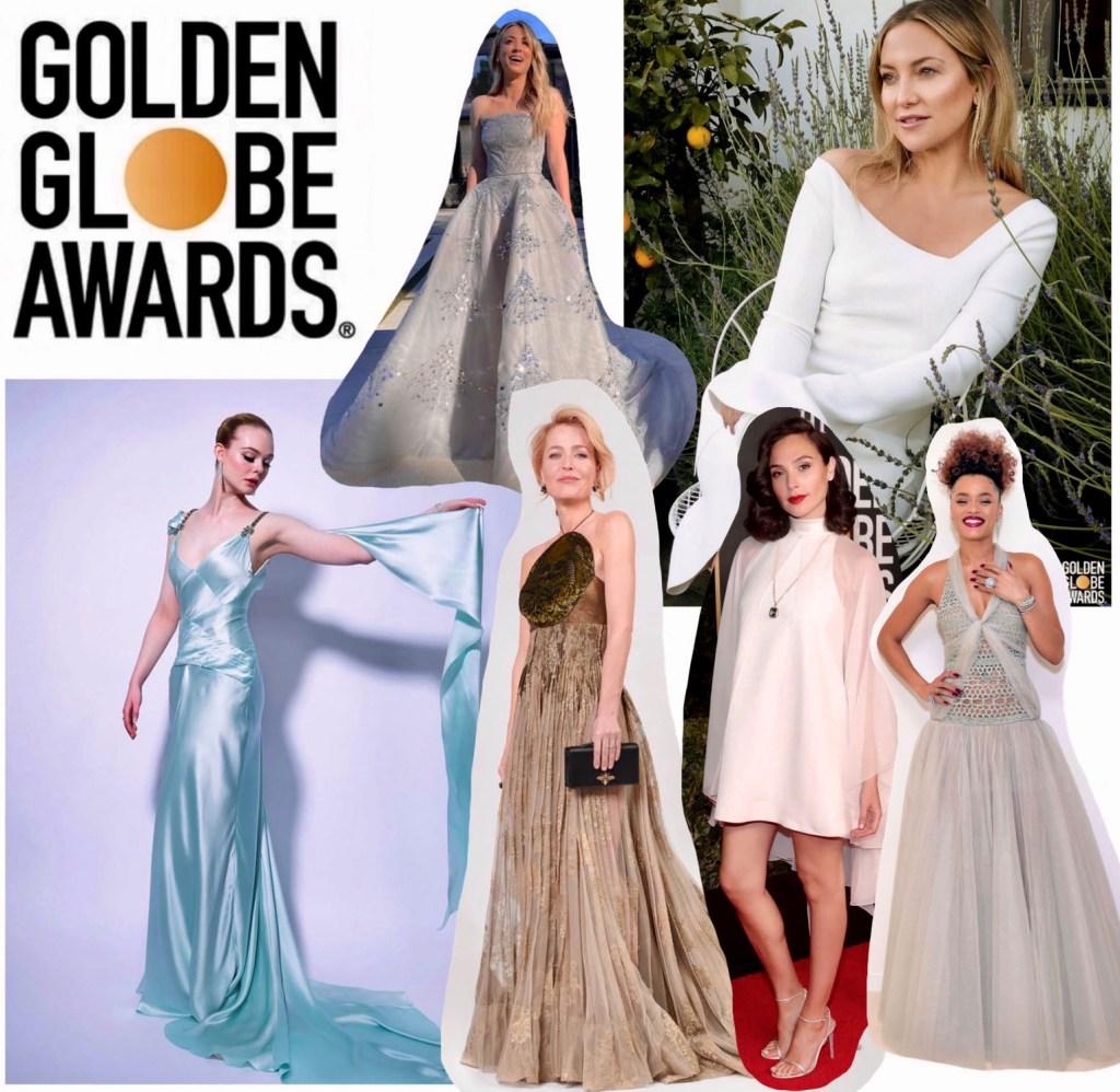 Favoris du mois : Collage meilleurs looks des Golden Globes 2021