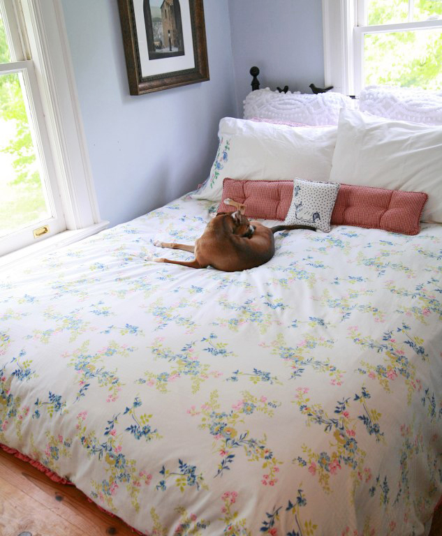 Diy Duvet Cover Comforter Cover From Two Flat Sheets My