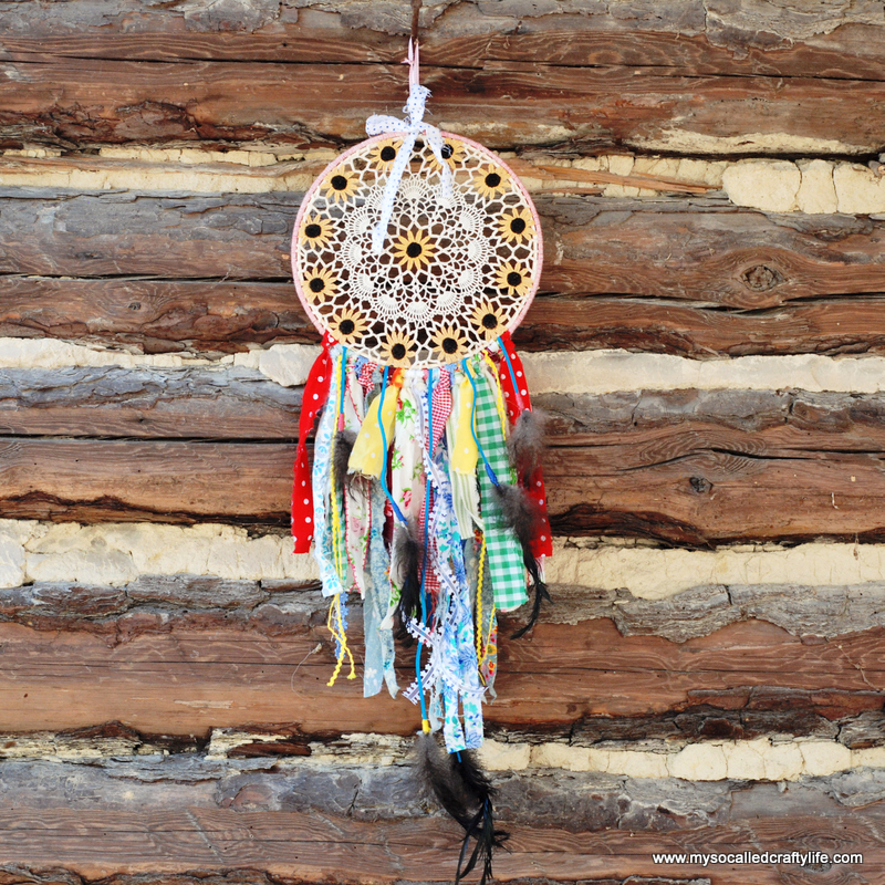 Shabby Vintage Doily DIY Dream Catcher  My So Called