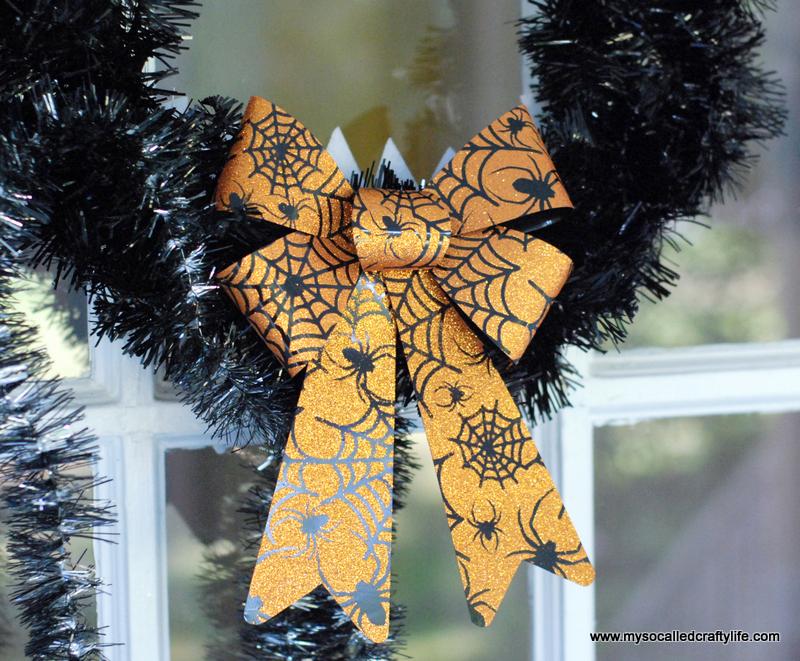Diy Nightmare Before Christmas Inspired Halloween Wreath My So Called Crafty Life