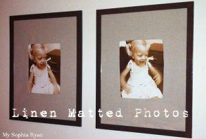 Linen Matted Photos