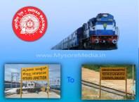 Mysore to Chamarajanagar train