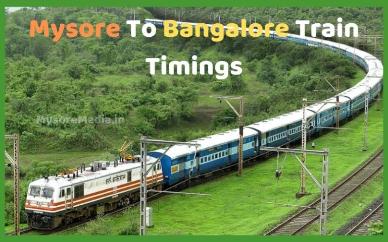 Mysore To Bangalore Train Timings