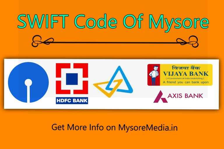 SWIFT Code of Mysore