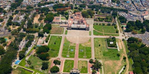 Mysore Palace Drone Shot