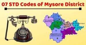 STD Code of Mysore 2019
