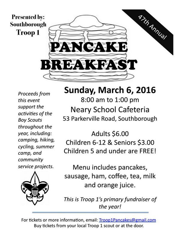 Boy Scout pancake breakfast this Sunday