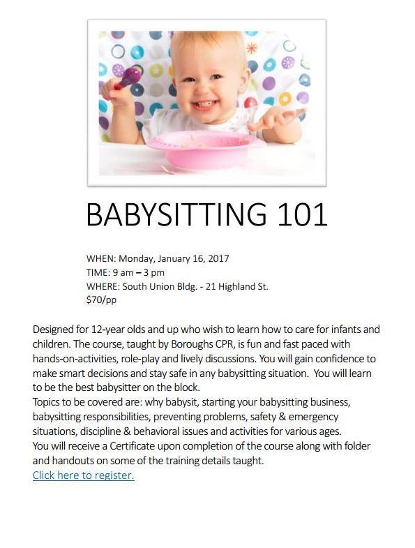 responsibilities for babysitting