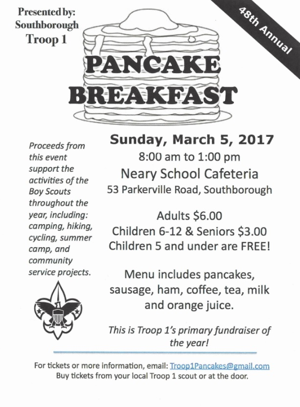 Boy Scout pancake breakfast