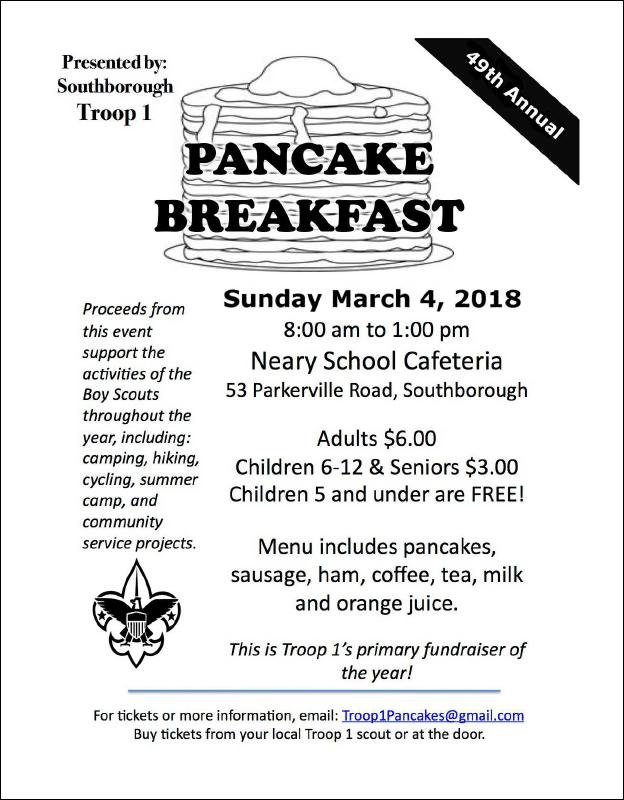 Boy Scout pancake breakfast