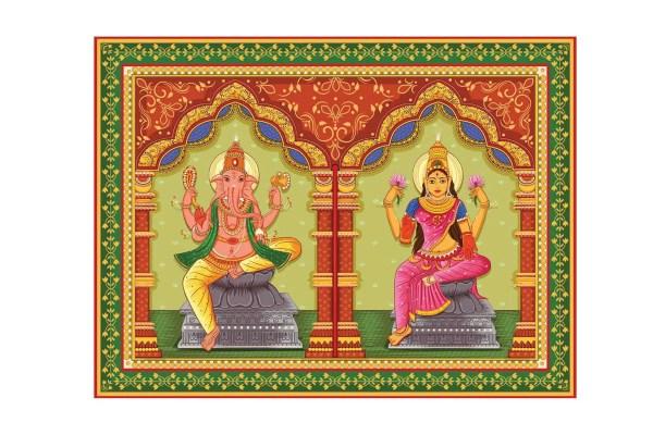 Laxmi Ganesh Canvas art