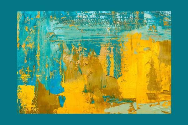 Yellow Stroke Canvas art