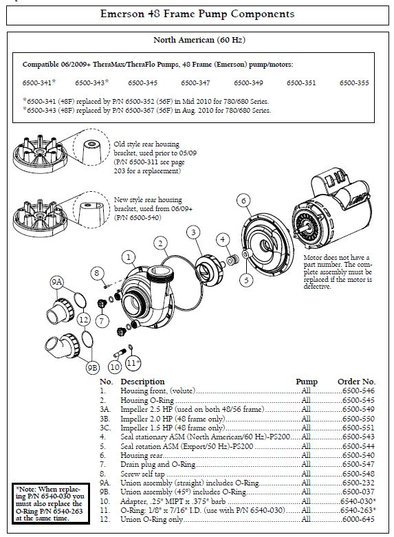 2002 cal spa wiring diagram trailer wire 5 sundance thermax theraflo 2 hp speed 240 volt motor pump emerson 48fr components