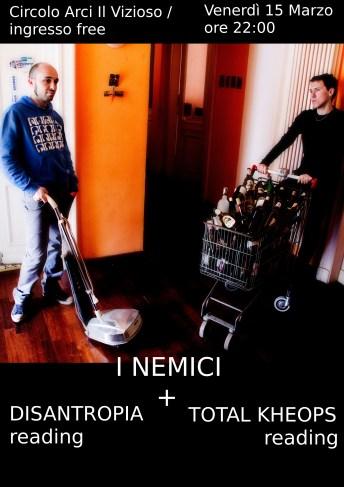 Locandina I Nemici + doppio reading_rid