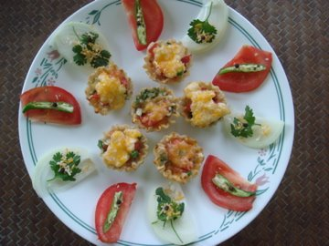 Tomato Canapes, Paula Dean, Food Network